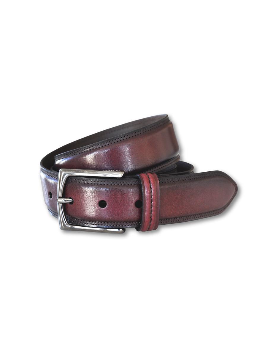 cinturón vaquetilla burdeos