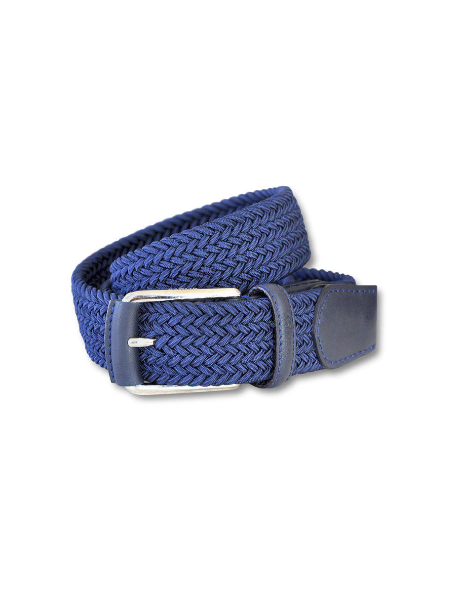 0b1c1a75b Leather and rayon belt - OLIMPO