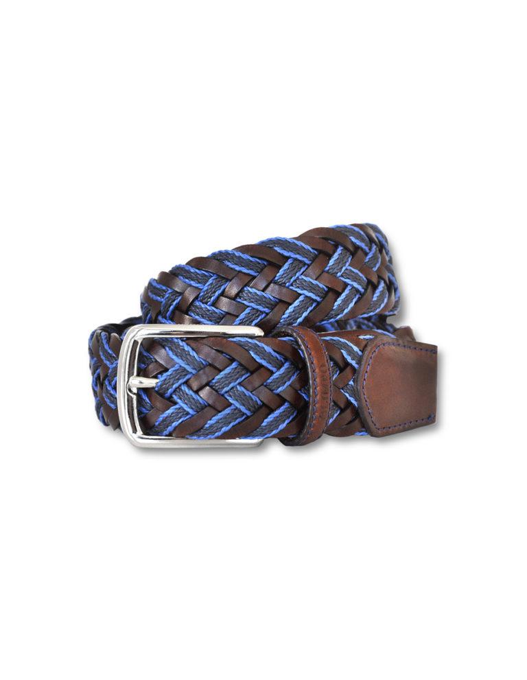 cinturón cuero y algodón