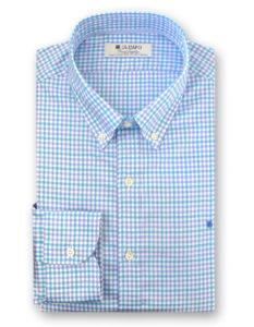 Camisa hombre de cuadros azules, marca Olimpo