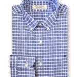 Camisa de cuadros gruesos azules, marca Olimpo