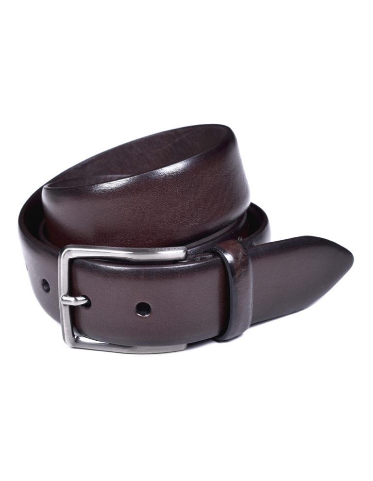 cinturón marrón piel