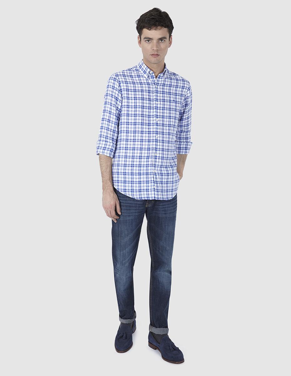 a1586092a5 Camisa de lino para hombre - OLIMPO